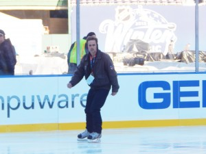 Chris Swanson can check skating on an NHL playing surface off his bucket list after taking the ice at Nationals Park on Dec. 30. (Jon Gallo)