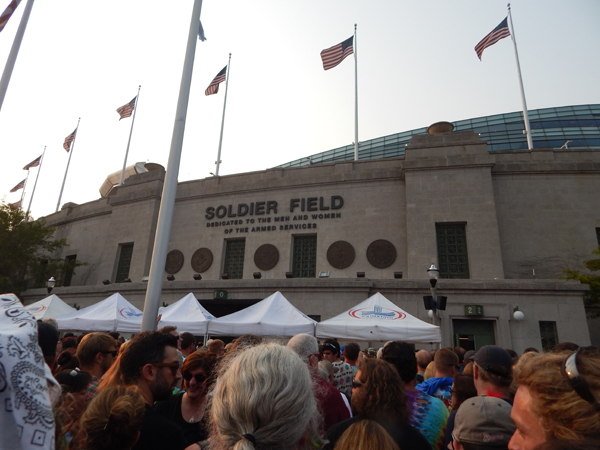 Soldier Field hosted the Grateful Dead's final three shows, 20 years after the band's legendary guitarist, Jerry Garcia, died after playing a show in the venue.