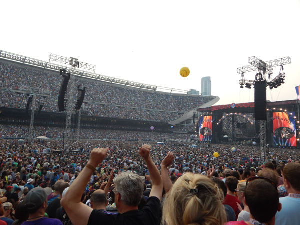More than 70,000 fans packed Soldier Field for each of the  Grateful Dead's final three shows this past weekend.