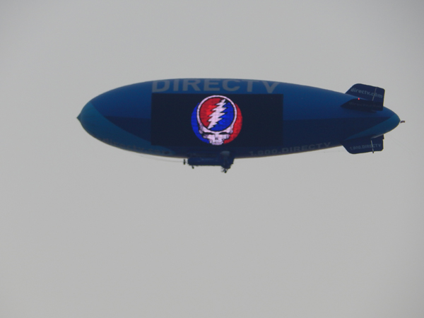 You don't see this everyday flying above Soldier Field.