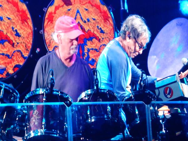 Drummers Mickey Hart and Bill Kreutzmann.