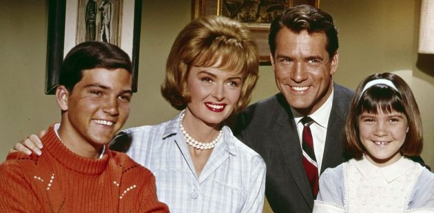 Paul Petersen with the cast of The Donna Reed Show