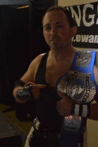 EWA Cruserweight Champion Chris Burns. (Anthony C. Hayes)