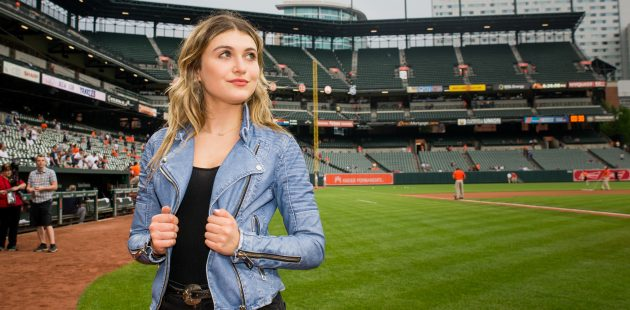 "Baltimore, Md - Singer, songwriter and actor Elle Winter is scheduled to perform at ""Friday Fireworks and Music at America's Ballparks"" at Oriole Park on June 1st. (Mike Jordan/BPE Staff Photographer)"