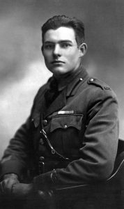 """EH 2723P Milan, 1918 Ernest Hemingway, American Red Cross volunteer. Portrait by Ermeni Studios, Milan, Italy. Please credit """"Ernest Hemingway Photograph Collection, John F. Kennedy Presidential Library and Museum, Boston"""""""