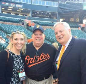 Hayley Evans, Gov. Larry Hogan and Gerry Evans. From Evans Facebook page