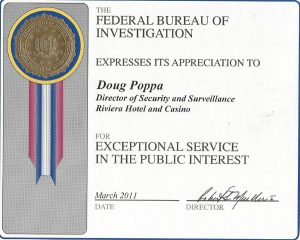 A citation from the F.B.I. to Doug Poppa