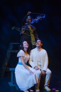 Stephanie Schmalzle and Benjamin Lurye as the Girl and the Boy in Rep Stage's Fantasticks