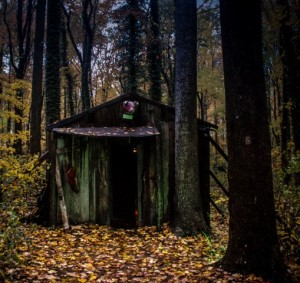 What ghoulish figures await us inside this creepy shack? (Jessica Lynn Dotson)