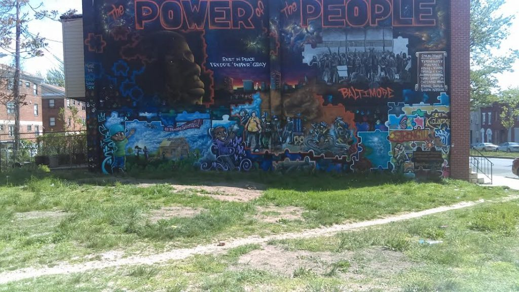 Baltimore has a Freddie Gray wall to honor the 25-year-old who died in police custody. (Gary Gately)