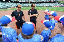 It's not every day you get to attend practice led by Orioles shortstop  J.J. Hardy and third base coach Bobby Dickerson at Camden Yards.(Baltimore Orioles)
