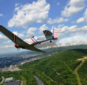 GEICO Skytypers over Reading, Pa. credit Anthony C. Hayes