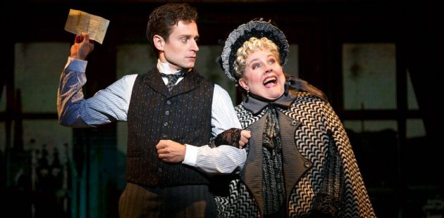 Kevin Massey and Mary VanArsdel in the touring production of A Gentleman's Guide to Love and Murder.
