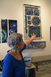 "Gail Rosen of Andamento Gallery in Baltimore, Maryland: ""I got into mosaics about seven years ago and I just found peace."" (Anthony C. Hayes)"