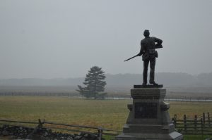 A monument overlooking the Gettysburg Battlefield. Picture taken on Remembrance Day 2017 - credit Anthony C. Hayes Baltimore Post-Examiner