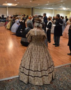 A woman in a hoop skirt at the 2017 Gettysburg Remembrance Day Original Civil War Ball. (Anthony C. Hayes)