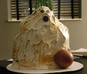 A ghost-shaped cake prepared the hotel bakery was frightfully delicious. (Anthony C. Hayes)
