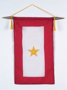 A Gold Star Flag represents a family member who died while in the service.