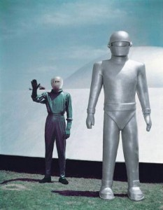 Klaatu and Gort from the film The Day The Earth Stood Still.