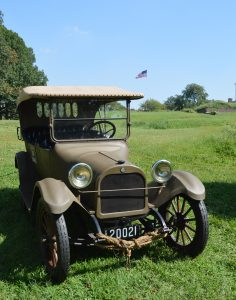 One of the WWI-ear automobiles on dispaly at Camp Doughboy on Govenors Island Sept 16 2018. (Anthony C. Hayes)