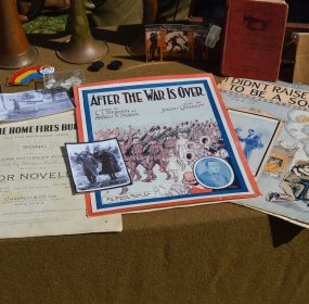 WWI-era music on display at Camp Doughboy. (Anthony C. Hayes)