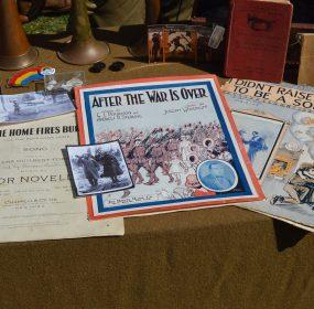 WWI-era music on display at Camp Doughboy. (Anthony C. Hayes)