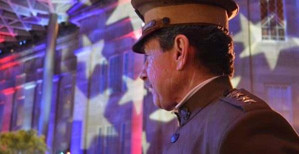 Actor David Shuey appeared as General Pershing at the Great Gatsby Presidential Inaugural Ball. (Anthony C. Hayes)