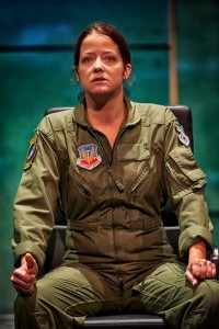 Megan Anderson in the role of burned out pilot in the  stage play Grounded. (ClintonBPhotography)
