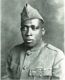 Sgt. Henry Johnson was recognized by the French with a Croix de guerre with star and bronze palm, and was the first U.S. soldier in World War I to receive that honor. He was posthumously awarded the Medal of Honor by President Obama in 2015. (Public Domain)