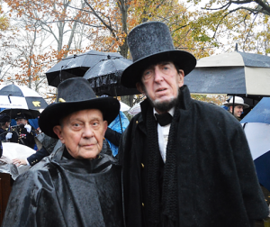 Henry Shaw and Robert F. Costello at the Albert Woolston Memorial for the 2017 Gettysburg Remembrance Day. (Anthony C. Hayes)