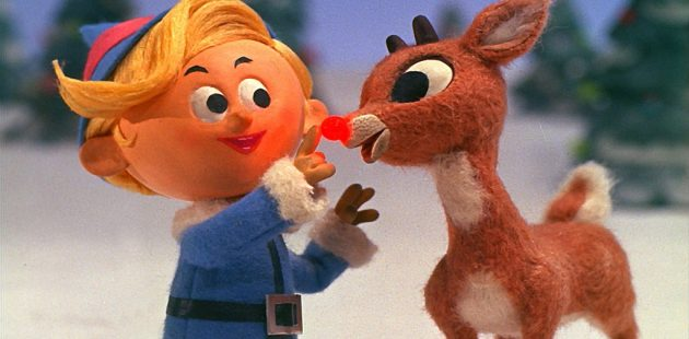 Young Rudolph (right) and Hermey the Elf as seen in a screenshot from the 1964 Rankin Bass TV special.