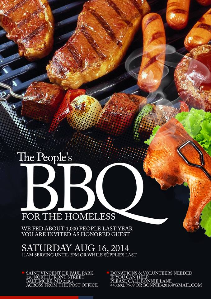 Homeless BBQ best flier by Troy Edwards