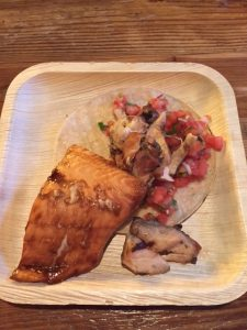 Alaskan Salmon & Grilled Chicken Taco