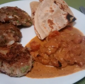 Aloo Tikki and Tikka Masala, it's a beautiful thing.