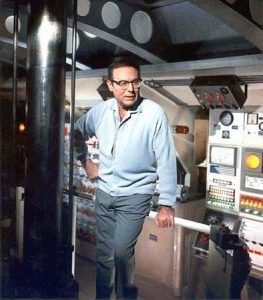 Irwin Allen on the set of Voyage To The Bottom Of The Sea.