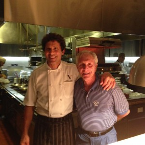 Chef owner Giovanni of Valentino Cucina Italiana and me pose for a photo.