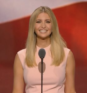 Ivanka Trump introduced her father, saying he would be color blind and gender neutral. (YouTube)