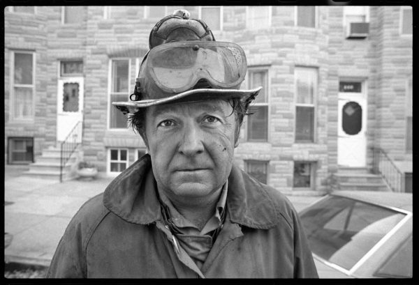 """Baltimore City Fire Department, Engine 25 firefighter Al Price. 1981 (Jim Burger) From """"A Charmed Life – The Jim Burger Photography Retrospective."""""""