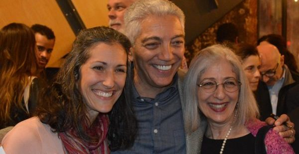 """Jim Burger is joined at his opening by niece Jessica Parker (l) and sister Pauly Heller (r). (Anthony C. Hayes) The family was on hand Oct 13, 2018 at the Creative Alliance for the opening of """"A Charmed Life – The Jim Burger Photography Retrospective."""""""