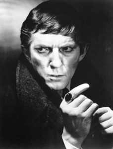 Jonathan Frid as Barnabas Collins from Dark Shadows is one of the actors profiled in Dashing, Daring, and Debonair by Herbie J Pilato. (Wikimedia)