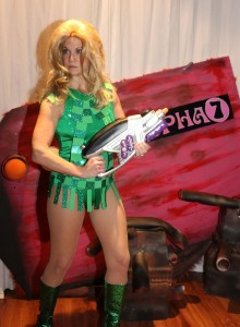 Kay Sera as Barbarella. (Richard Just)