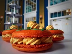 Pumpkin macarons at the Lord Baltimore Hotel.