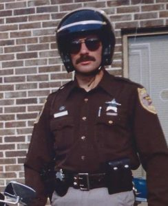 Doug Poppa when he was in the Loudoun County Sheriff's Office Motor Squad