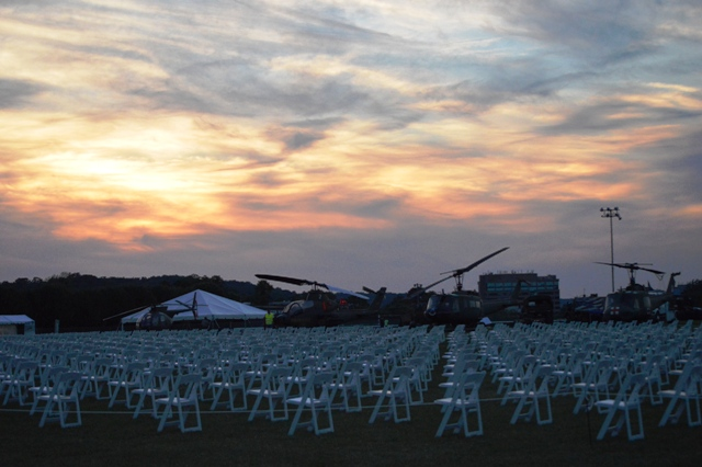 1,017 empty chairs stand as a silent tribute to the Marylanders killed or missing in action in Vietnam. (Anthony C. Hayes)
