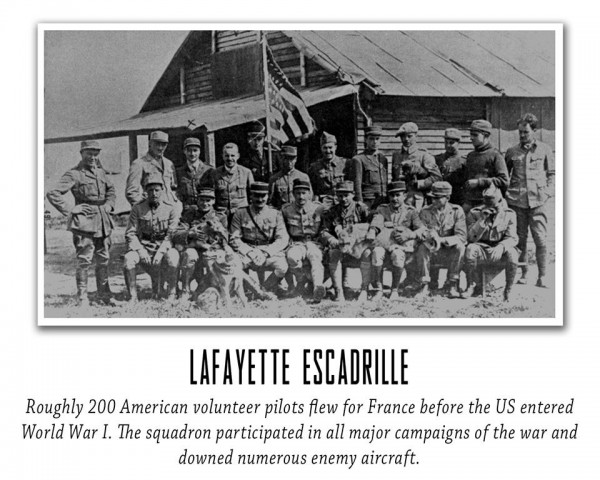 Lafayette Escadrille group shot