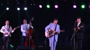 Larry Sparks, who was inducted into the International Bluegrass Music Association Hall of Fame, performed in the music hall with his band The Lonesome Ramblers.