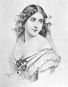 A drawing of Laura Keene from the autobiography of Joseph Jefferson. (Wikimedia)