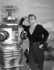 Jonathan Haris and that bubble-headed booby, the Robot. (Wikimedia)