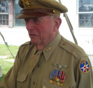 Jerry Yellin addressing a group at the 2014 MAAM WWII Weekend. (Anthony C. Hayes)