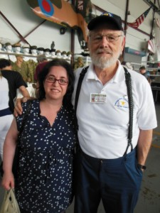 Elizabeth Aronson and Edward Peters at MAAM WWII Weekend. (Anthony C. Hayes)